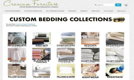 Website Screenshot - Bedding Collections