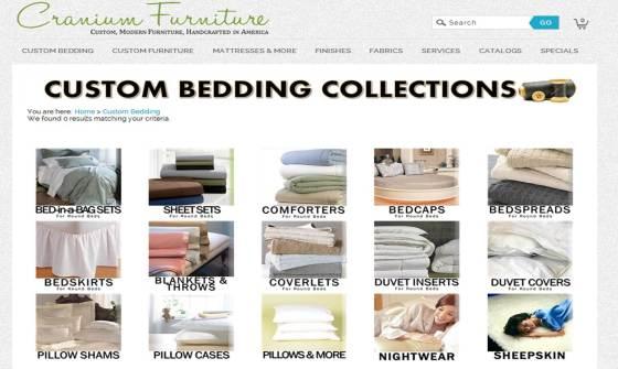 Website Screenshot - Bedding Collections